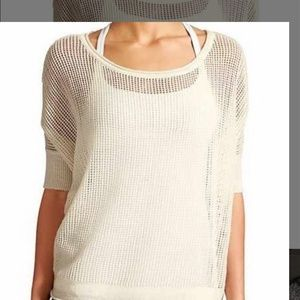Athleta Cabrillo loose knit Cashmere XL Cream